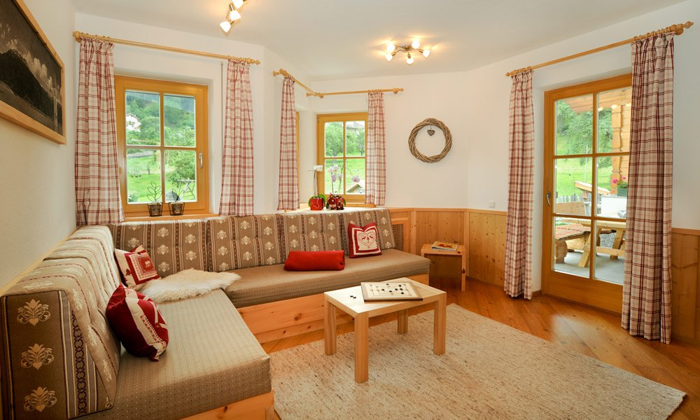 And so you will stay in our cottage Vinschgau: