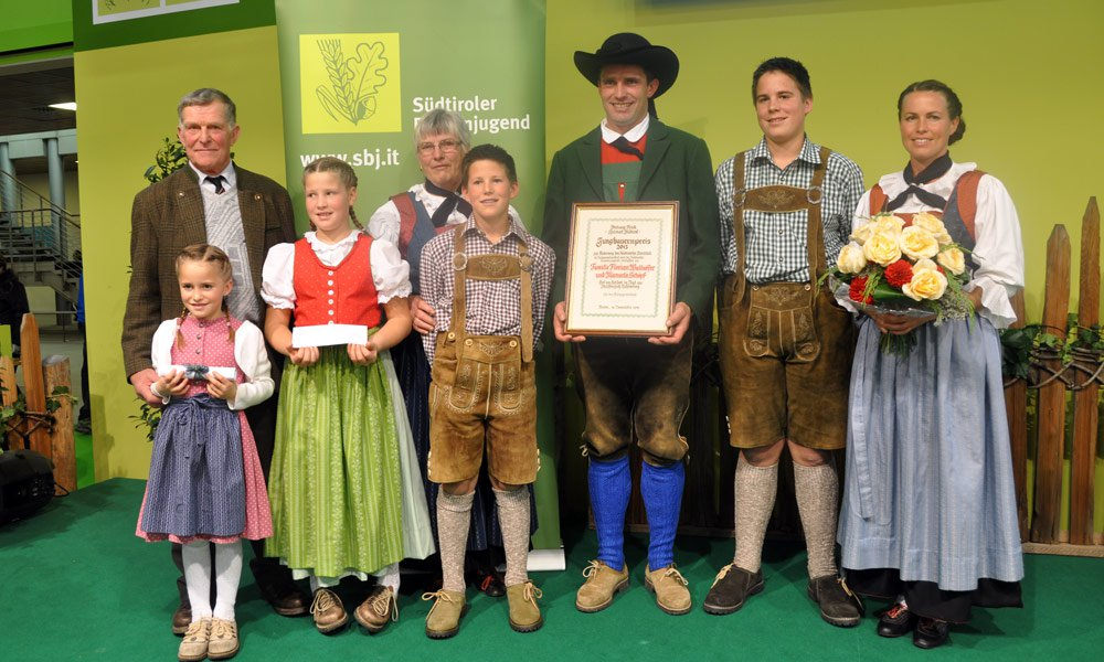 Young farmer award 2013 for promoting the South Tyrolean identity
